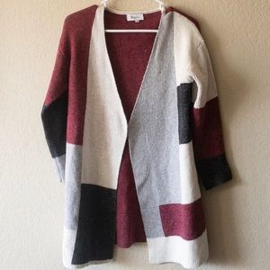 Military Hippie | Open front color block Cardigan
